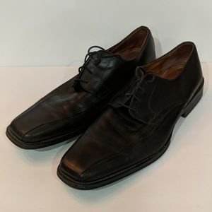 Johnston and Murphy Black Leather Shoes Size 12